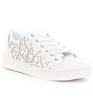 Guess Jacalin Lace-Up Perforated Detail Sneakers