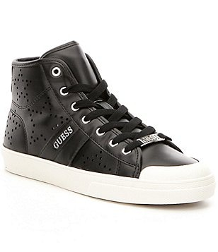 Guess Kamio Leather Lace-Up High Top Sneakers