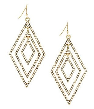 Jessica Simpson Dancing in the Moonlight Pavé Diamond Drop Earrings