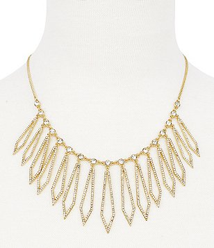 Jessica Simpson Dancing in the Moonlight Pavé Statement Necklace