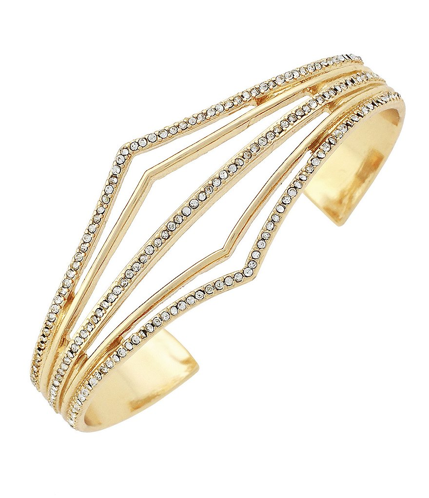 Jessica Simpson Dancing in the Moonlight Pavé Cuff Bracelet
