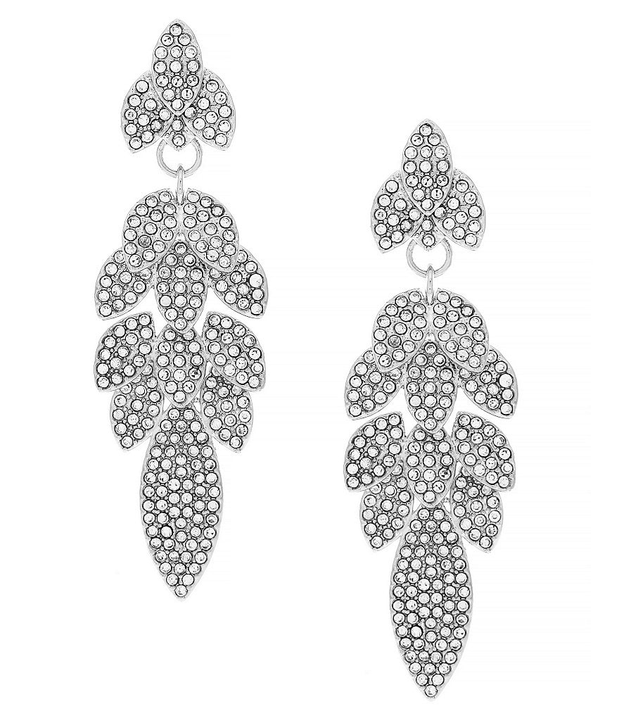 Louise et Cie Opulent Crystal Petal Drop Earrings