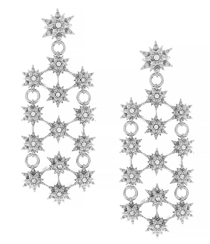 Louise et Cie Starry Night Crystal Chandelier Earrings