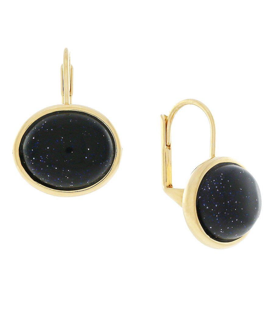 Cole Haan Cabochon Stone Drop Earrings