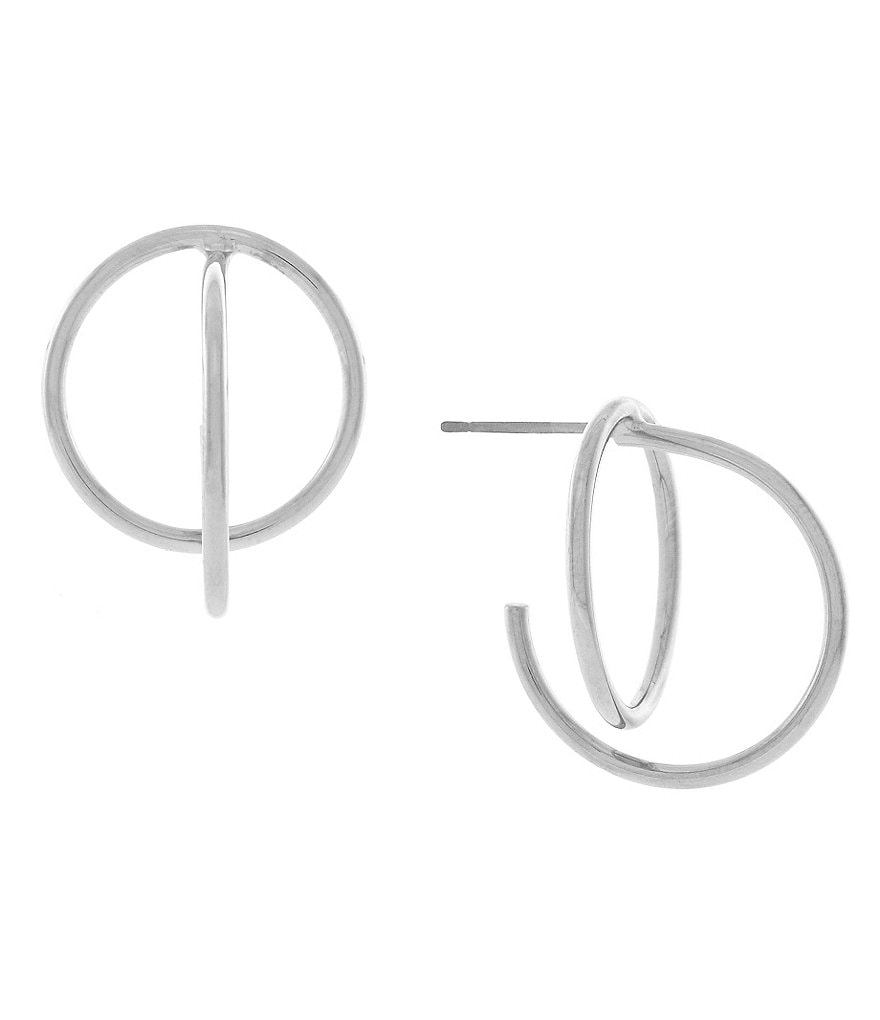 Cole Haan Geometric C-Hoop Earrings