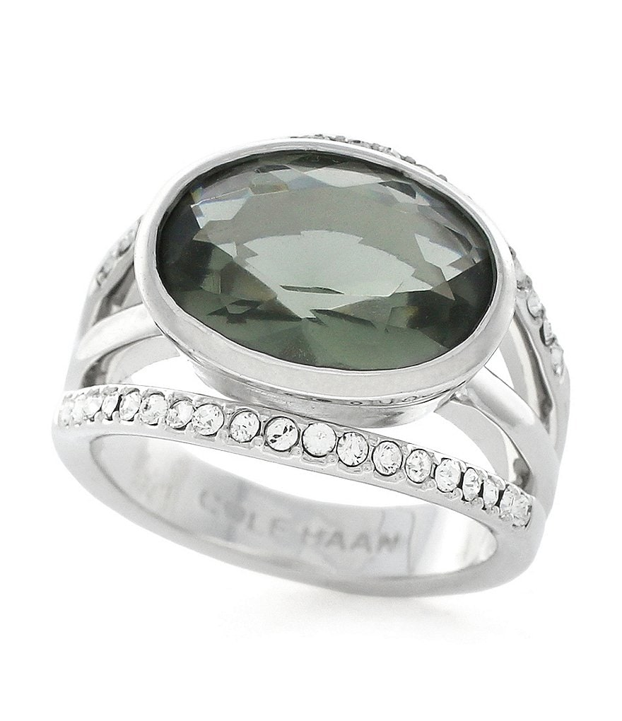 Cole Haan Oval Faceted Stone Cocktail Ring