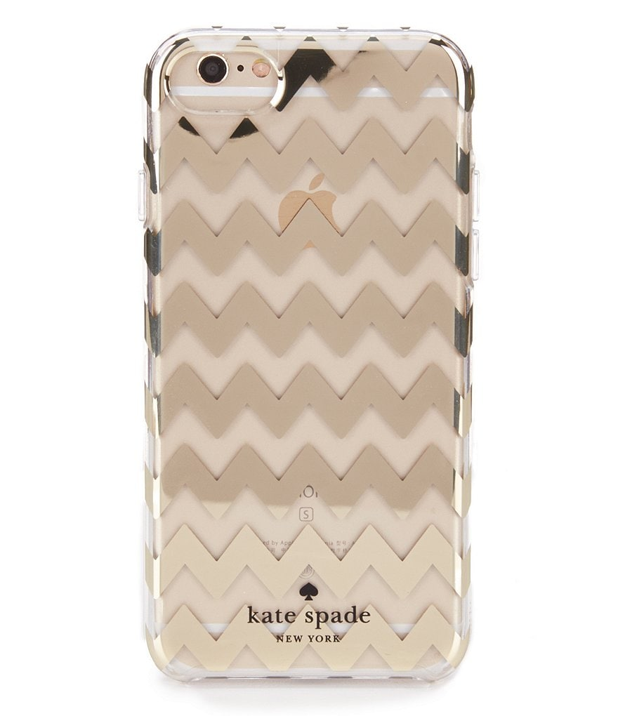 kate spade new york Gold Foil Chevron iPhone 7 Case