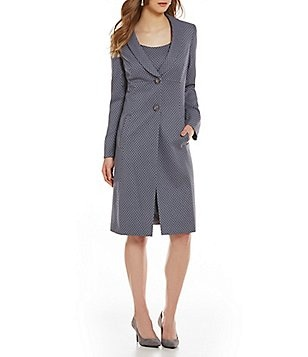 John Meyer Jacquard 2-Piece Jacket Dress