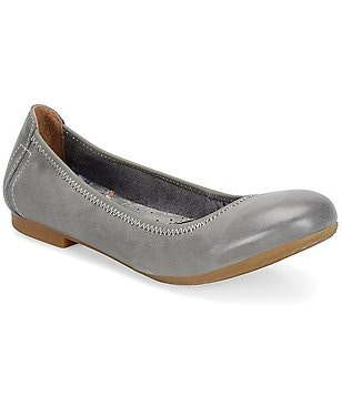 Born Julianne Metallic Leather Studded Slip-On Ballet Flats