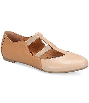 Born Selmha Leather & Elastic Color-Block Slip-On Flats