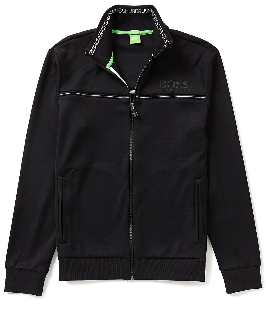 BOSS Green Skaz Mock Neck Track Jacket