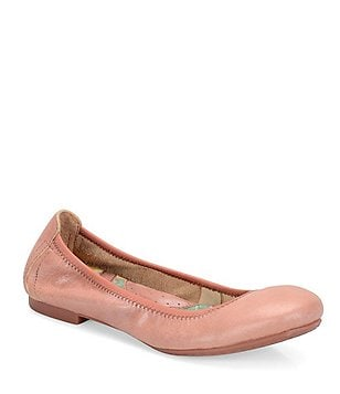 Born Julianne Pearlized Leather Slip-On Ballet Flats