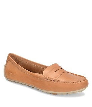 Born Malena Leather Slip-On Dress Penny Loafers
