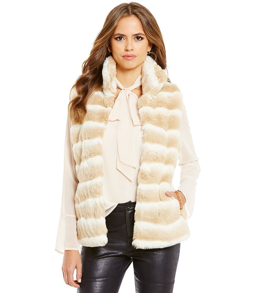 Gianni Bini Allison Faux-Fur Vest