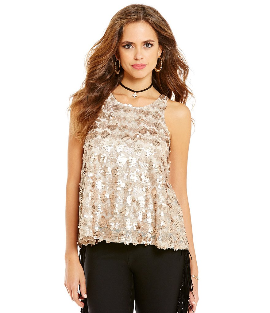 Gianni Bini Piper Sequin Tank