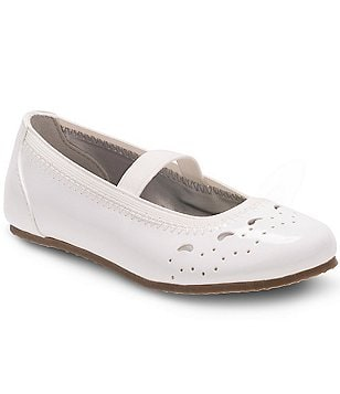 Stride Rite Girl´s Chiara Patent Perforated Elastic Strap Ballet Flats