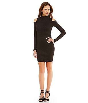 Gianni Bini Fan Fav Camden Cold-Shoulder Mock Neck Dress