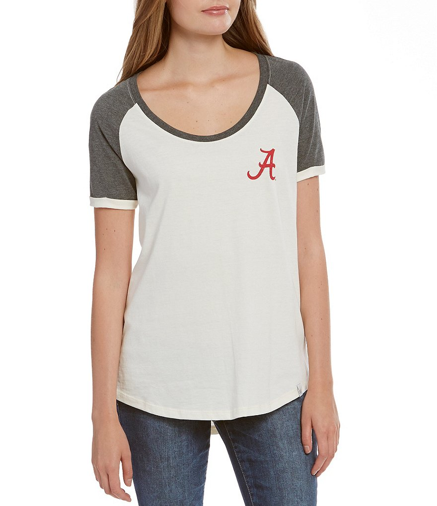 Lauren James University of Alabama Vintage Tailgate Short-Sleeve Graphic Tee