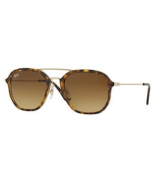 Ray-Ban Highstreet Double-Bridge Gradient Square Sunglasses