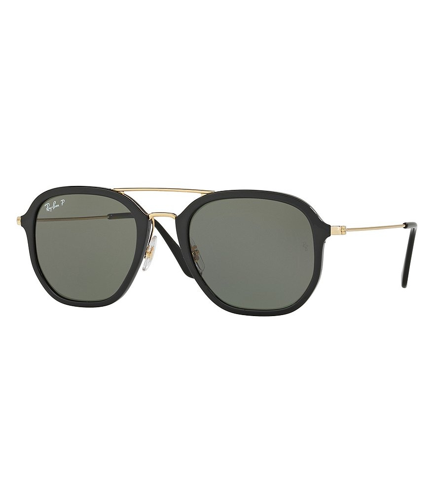 Ray-Ban Highstreet Double-Bridge Polarized Square Sunglasses