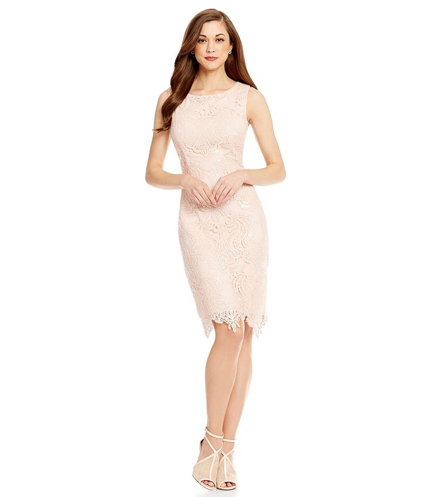 Antonio Melani Joy Sleeveless Sequin Lace Sheath Dress