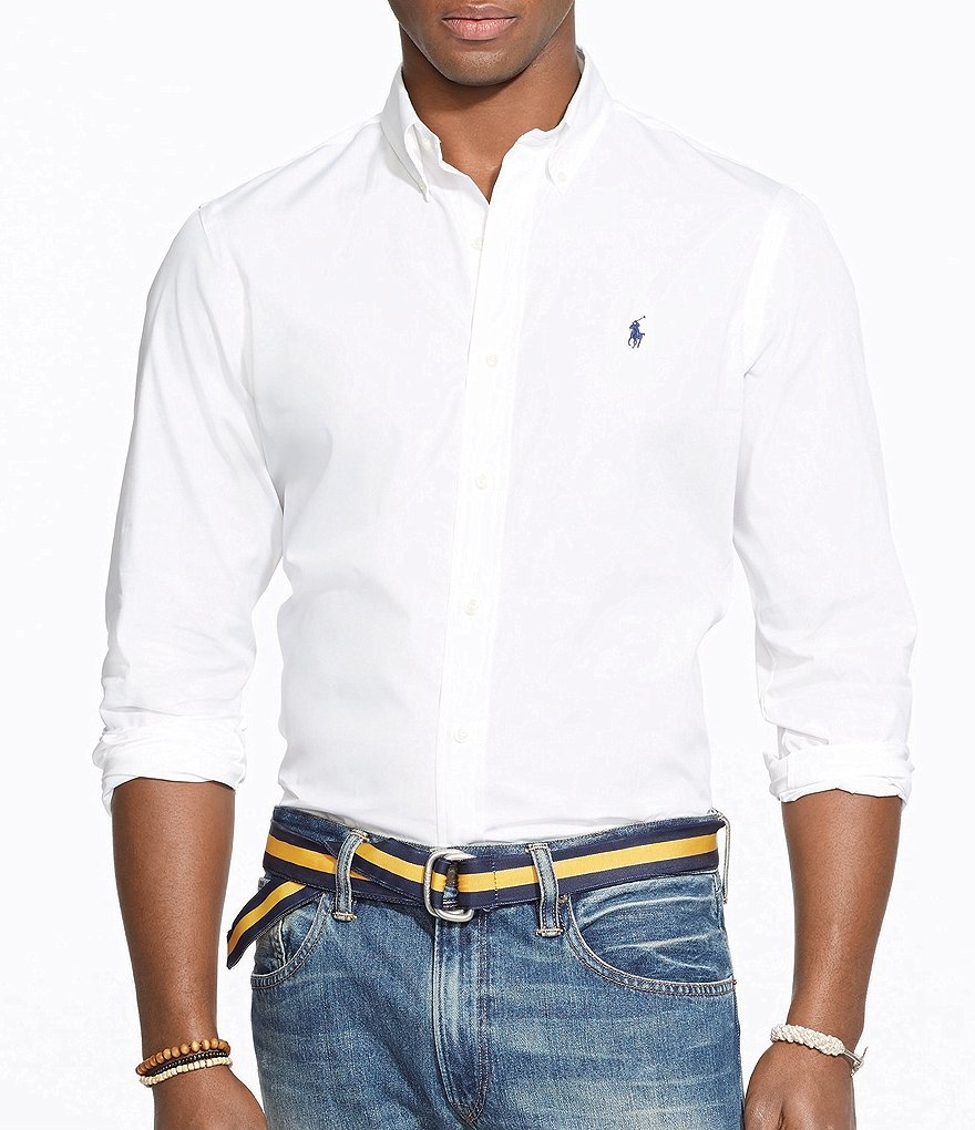 Polo Ralph Lauren Big & Tall Cotton Solid Poplin Shirt