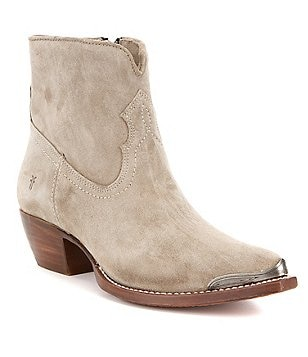 Frye Shane Tip Oil Suede Pull-On Short Boots