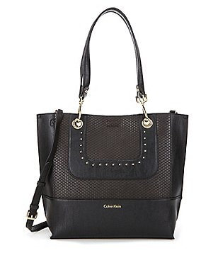 Calvin Klein Sonoma Chain-Trimmed Convertible Reversible Tote