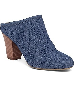BCBGeneration Dylen Woven Microfiber Block Heel Dress Mules