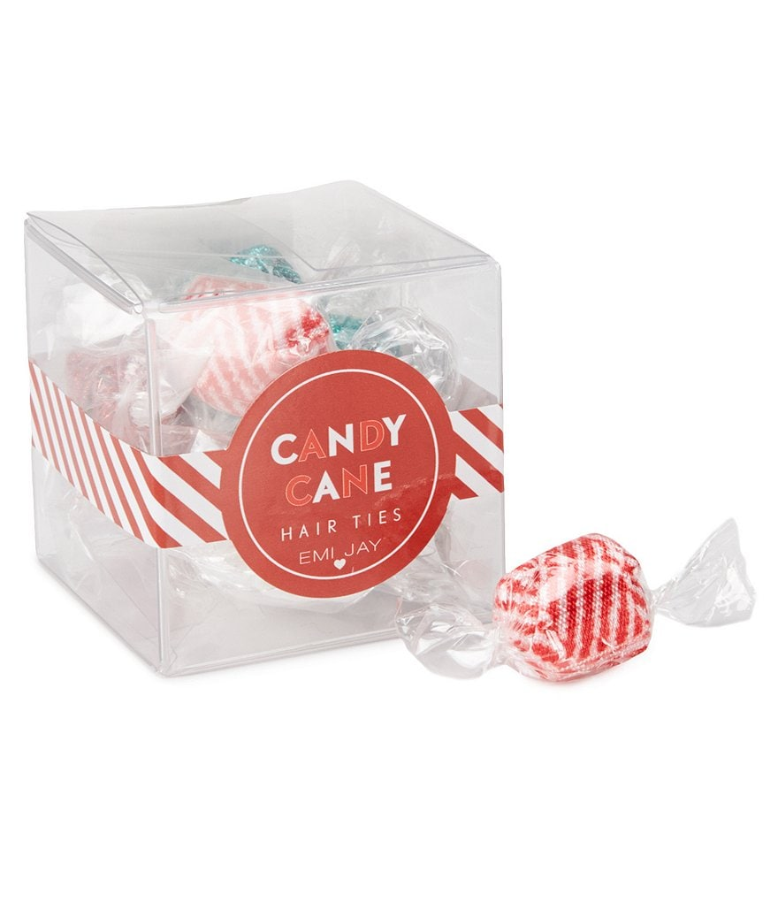 Emi Jay 12-Pack Candy Cane Hair Ties