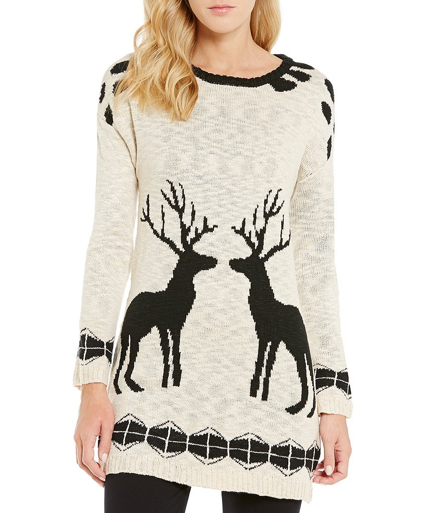 Cremieux Bree Deer Sweater