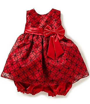 Jayne Copeland Baby Girls 12-24 Months Flocked Dress