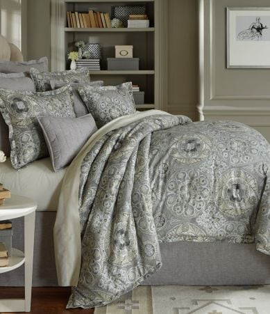 Southern Living Bedding : Southern Living Kingsley Metallic Medallion Cotton & Linen ...
