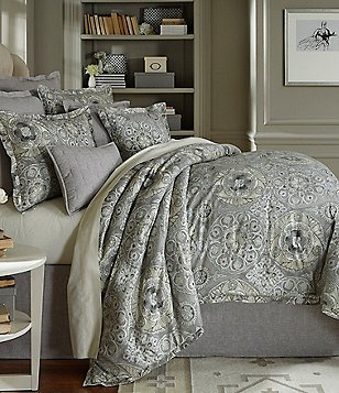 Southern Living Kingsley Metallic Medallion Cotton & Linen Comforter Mini Set