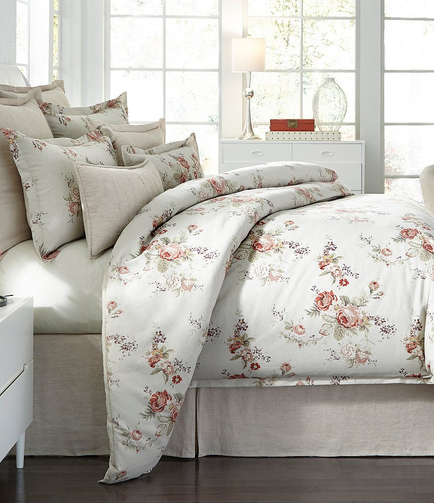 Southern Living Bedding : Southern Living Charlotte Floral Cotton Comforter Mini Set ...