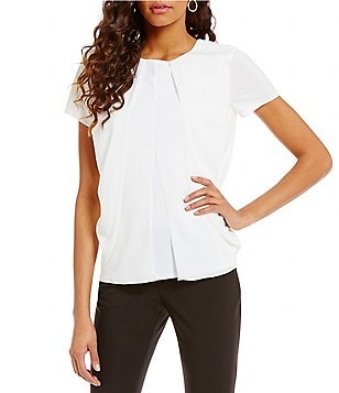 Antonio Melani Cameron Crew Neck Short Sleeve Knit Top