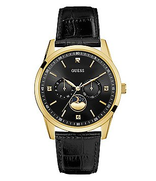 Guess Sleek Moon Phase Dress Watch