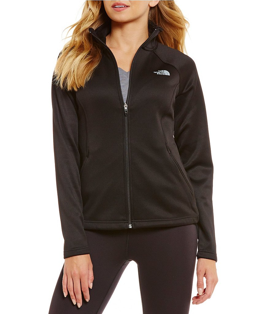 The North Face Agave Luxe Heathered Fleece Full-Zip Mock Neck Fleece Jacket