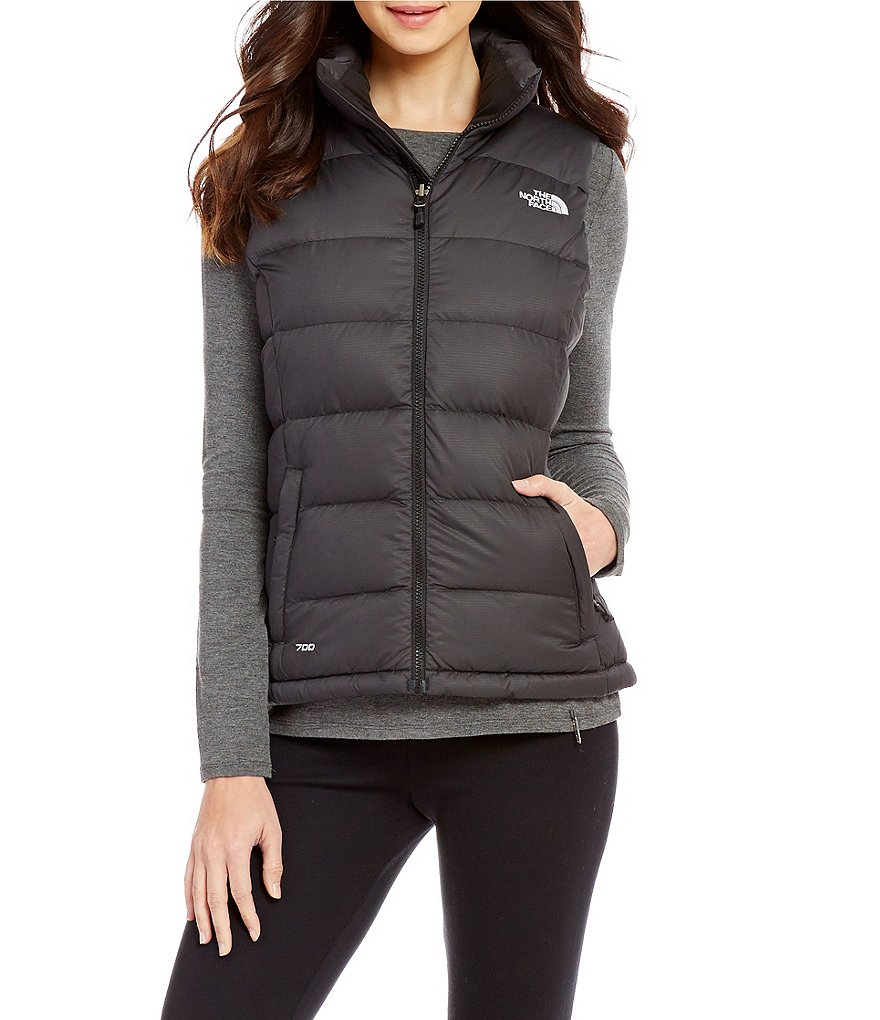 The North Face Goose Down Mock Neck Brushed Collar Nuptse 2 Vest