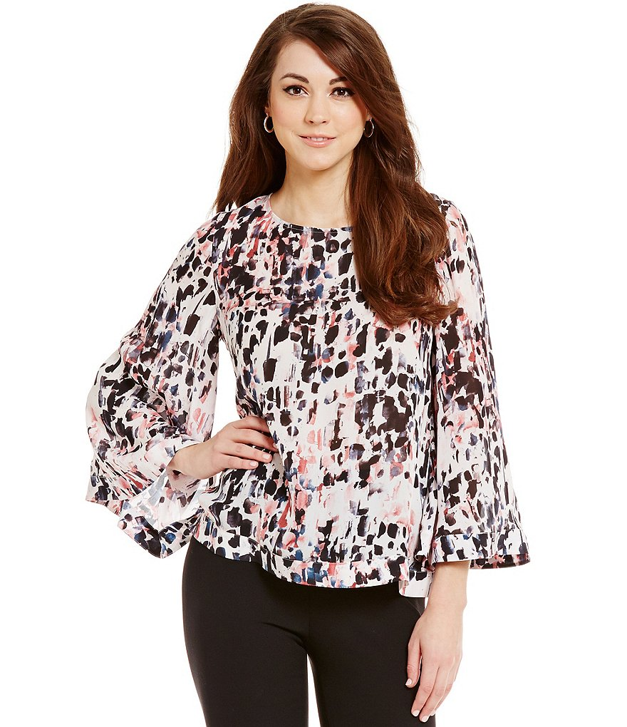 Antonio Melani Reese Long Bell Sleeve Silk Blouse