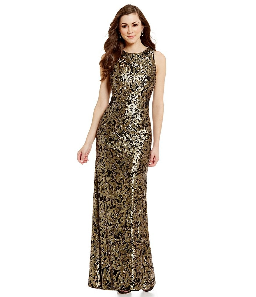 Antonio Melani Estelle Sleeveless Fit-And-Flare Sequin Lace Dress