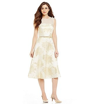 Antonio Melani Chelsea Floral Fit-and-Flare Sleeveless Popover Jacquard Dress