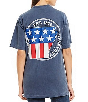 Royce Arkansas Patriotic State Graphic Tee