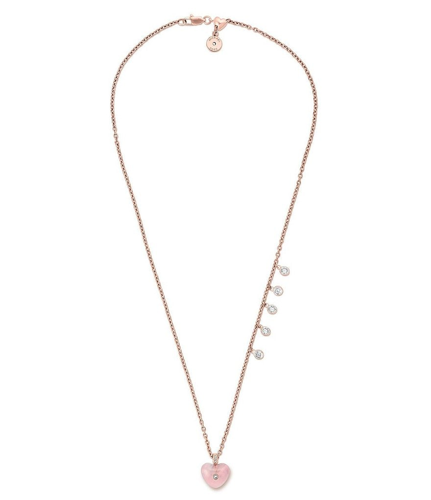 Michael Kors Carved Heart Pendant Necklace