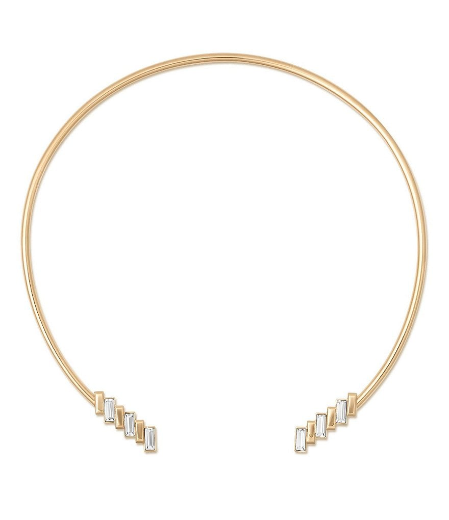 Michael Kors Black Tie Affair Crystal Open Collar Necklace