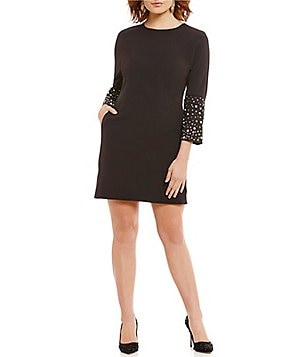 Belle Badgley Mischka Jagger 3/4 Bell Sleeve Dress