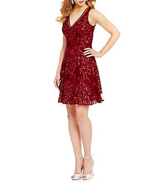 Belle Badgley Mischka June Sequin A-line Dress