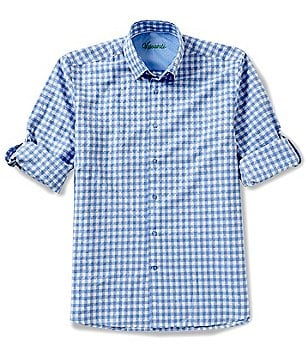 Visconti Diamond Gingham Long-Sleeve Woven Shirt