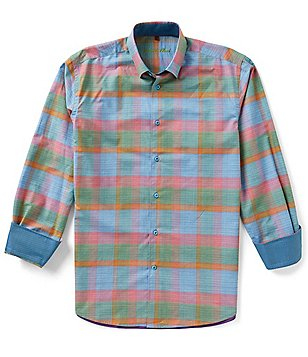 Visconti Large Plaid Long-Sleeve Woven Shirt