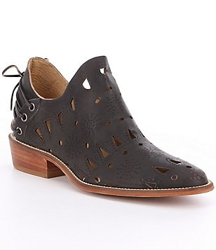Coolway Anisse Cut-Out Leather Back Strap Detail Booties
